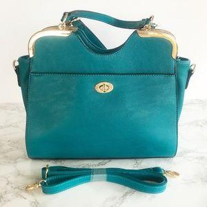 Lulu's Satchel Bag in Teal NWOT